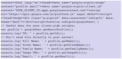 Como mostrar elementos de Google+ en WordPress | google signin 1