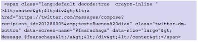 Como mostrar elementos de Twitter en WordPress   insertar boton enviar mensaje