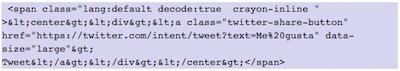 Como mostrar elementos de Twitter en WordPress   insertar boton twitear pagina