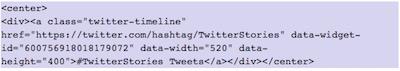 Como mostrar elementos de Twitter en WordPress   insertar timeline de hastag