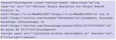 Como mostrar elementos de Twitter en WordPress   insertar tweet de video