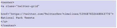 Como mostrar elementos de Twitter en WordPress   insertar twitter grid