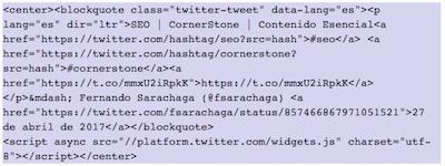 Como mostrar elementos de Twitter en WordPress   insertar un tweet