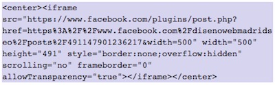 How to show FaceBook elements in WordPress | insert publication 1