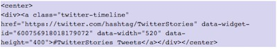 How to show Twitter elements in WordPress | insert hastag timeline