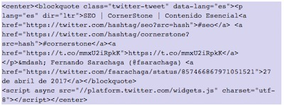How to show Twitter elements in WordPress | insert tweet