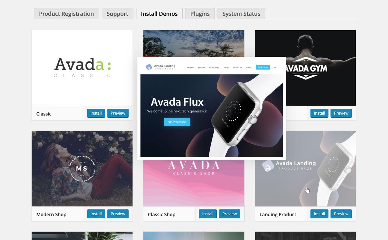 Avada WordPress Theme | Demo Content