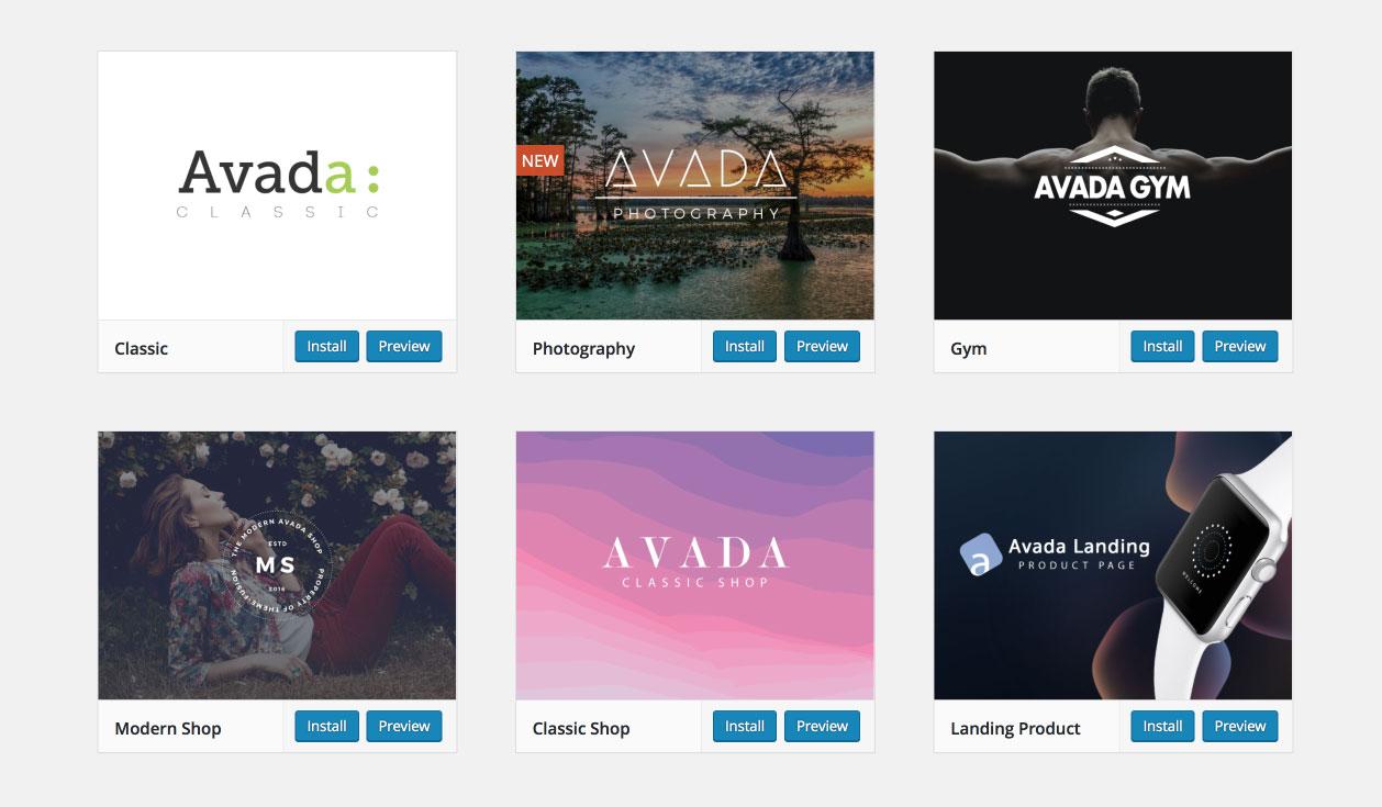 Avada WordPress Theme | Demos