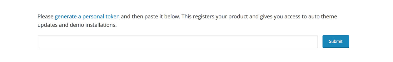 Avada WordPress Theme | New Token Registration