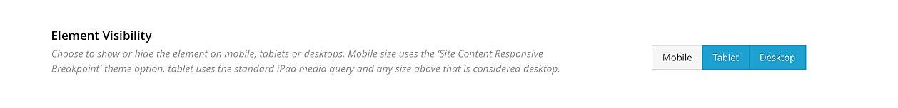 Avada WordPress Theme | Visibility