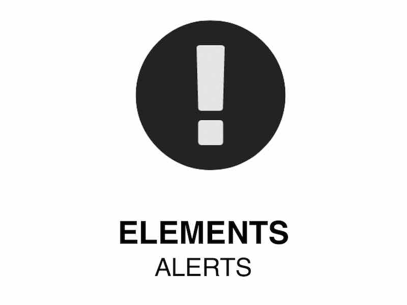 Web Element | Alert -Highlighted Web Content