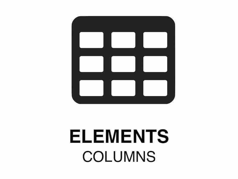 Web Element | Columns - Put order in tables