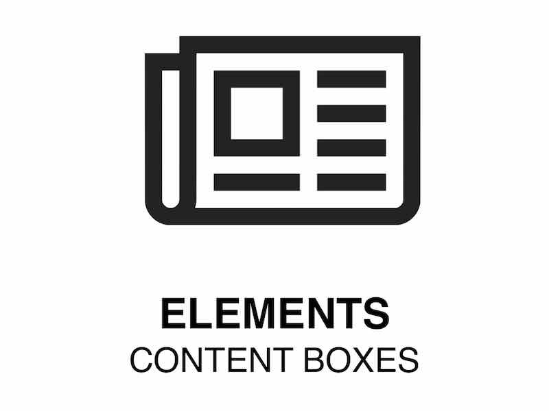 Web Element | Content Boxes -Show content in boxes