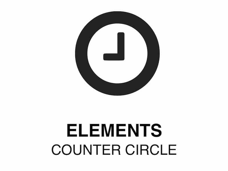 Web Element | Counter Circle -Show numbers on circles