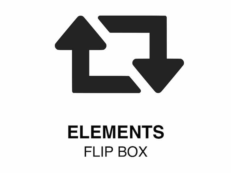 Web Element | FlipBox - Image turns into other image or text