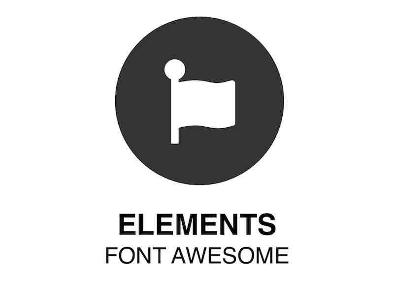 Web Element | Font Awesome - Vectorized social icons